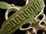 Green Scroll Gimp Braid Trim Made in Italy Vintage Braided Trim