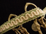 Off White Scroll Gimp Braid Trim Made in Italy Vintage Braided Trim
