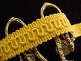 Golden Scroll Gimp Braid Trim Made in Italy Vintage Braided Trim