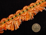 Fancy Scroll Braid Loop Fringe Trim Made in Italy Vintage Drapery Braid Trim