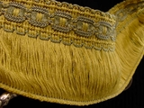 "Italian 2.5"" Wide Fringe Trim Made in Italy Vintage Drapery Fringe Decorative Braid Trim"