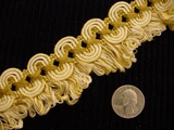 Fancy Scroll Looped Fringe Trim Made in Italy Vintage Drapery Braid Trim