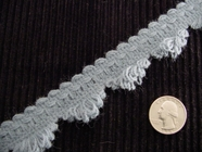 Fancy Loop Fringe Trim Made in Italy Vintage Decorative Braided Trim
