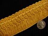 "Italian 2"" Wide Fringe Trim Made in Italy Vintage Drapery Fringe Decorative Braid Trim"