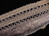 "Italian 3.5"" Wide Fringe Trim Made in Italy Vintage Drapery Fringe Decorative Braid Trim"