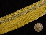 "Italian 1.75"" Wide Fringe Trim Made in Italy Vintage Drapery Fringe Decorative Braid Trim"