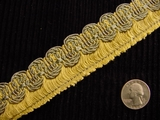 Italian Scroll Braided Fringe Trim Made in Italy Vintage Drapery Fringe Decorative Braid Trim