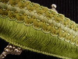 "Italian Green 2"" Wide Fringe Trim Made in Italy Vintage Drapery Fringe Decorative Braid Trim"