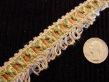 Fancy Loop Braid Trim Made in Italy Vintage Decorative Braided Trim