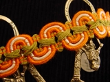 Fancy Orange Scroll Braid Trim Made in Italy Vintage Braided Trim