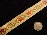 Floral Jacquard Italian Woven Trim Made in Italy Vintage Decorative Trim