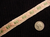 Italian Pink Woven Trim Made in Italy Vintage Drapery Trim