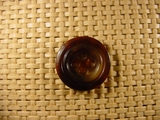 4 hole Italian Buttons 13/16 inch Dark Brown #Bpiece-249