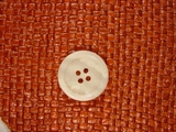 4 hole Buttons from Italy 7/8 inch Ivory White #Bpiece-277