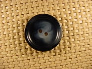 Italian 2 hole Buttons 1 inch Black Gray #Bpiece-155