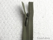 "8"" Olive Green Invisible Zipper"