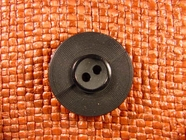 Italian Designer 2 hole Buttons 1 1/8 inches Black #Bpiece-167