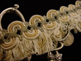 Fancy Scroll Braid Loop Fringe Trim Made in Italy Vintage Decorative Braided Trim