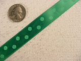 Green Satin Polka Dot Jacquard Ribbon #-WR-140