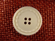 4 hole Italian Buttons 1 3/8 inches Off White #Bpiece-194
