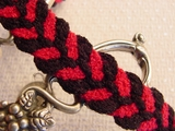Fuchsia Black Braided Trim