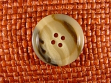 Italian Coat Buttons Wholesale (46pcs) 4 holes Designer Buttons 1 1/8 inch Multi Tan #bag-36
