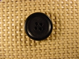 Italian Coat Buttons Wholesale (48pcs) 4 holes Italian Buttons 7/8 inch Black #bag-389
