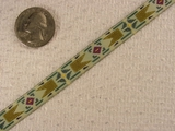 Multi-Green Craft Jacquard Ribbon #-WR-80