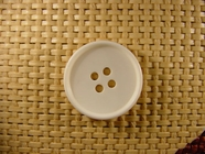 4 hole Italian Buttons 1 inch White #Bpiece-246