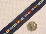Multi Flagged on Navy Background Jacquard Ribbon #WR-22