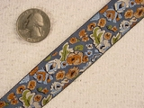 Country Calico Floral Jacquard Ribbon #-WR-60
