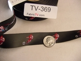 40 yards Jacquard Satin Ribbon #-TV-369