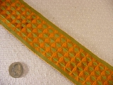 10 yards Orange & Olive Green Trim #-TV-1352