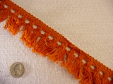 10 yards Rust Fringe Trim #-TV-1481
