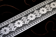 "2 1/8"" White Floral Lace Trim #1193"