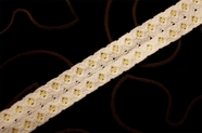 "7/8"" Cream Yellow Vintage Stretch Lace Trim #1204"