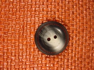 Designer 2 hole Button from Italy 1 1/8 inches Grey #Bpiece-283