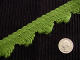 Fancy Green Loop Fringe Trim Made in Italy Vintage Decorative Braided Trim