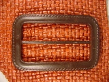 Designer Buckles 2 5/8 inches X 1 5/8 inches Dark Brown #Bpiece-331