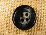 Designer 4 hole Buttons 1 1/4 inches Black White #Bpiece-342