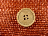 4 hole Italian Buttons 1 inch Stone Brown #Bpiece-365