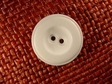Designer 2 hole Buttons 1 1/8 inches White #Bpiece-396