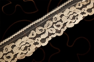 "2"" Cream Vintage Floral Lace Trim #1264"
