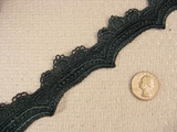 Dark Green Scalloped Venise Lace Trim
