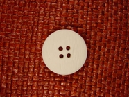 Designer 4 hole Buttons from Italy 1 inch White #Bpiece-309