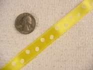 Polka Dot on Yellow Satin Jacquard Ribbon #-WR-253