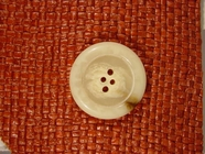 Designer 4 holes Buttons from Italy 1 1/4 inches Off White #Bpiece-327