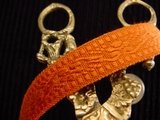 Italian Orange Woven Trim Made in Italy Vintage Decorative Trim