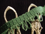 Fancy Green Loop Fringe Trim Made in Italy Vintage Drapery Braid Trim