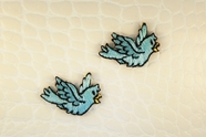 Flying Blue Bird Iron-On Applique #appliques-2